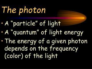 The photon