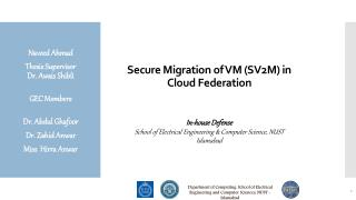 Secure Migration of VM (SV2M) in Cloud Federation