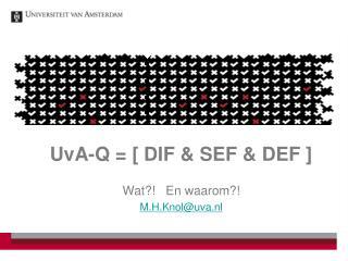UvA-Q = [ DIF & SEF & DEF ]