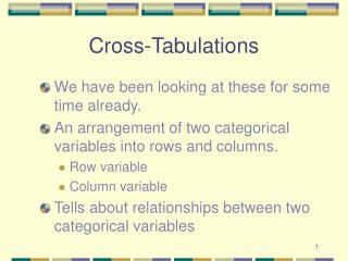 Cross-Tabulations