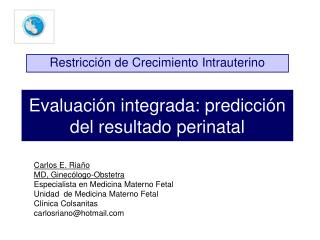 Evaluación integrada: predicción del resultado perinatal