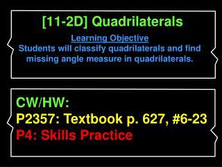 [11-2D] Quadrilaterals