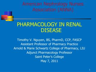 American Nephrology Nurses Association ANNA