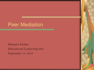 Peer Mediation