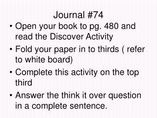 Journal #74