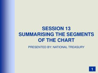 SESSION 13 SUMMARISING THE SEGMENTS OF THE CHART PRESENTED BY: NATIONAL TREASURY