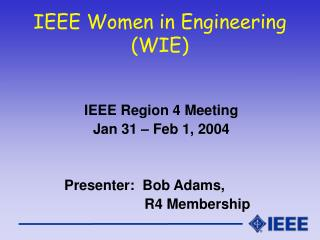 IEEE Women in Engineering (WIE)