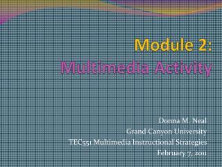 Module 2:  Multimedia Activity