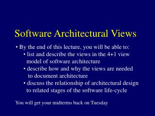Software Architectural Views