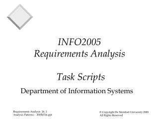 INFO2005 Requirements Analysis  Task Scripts