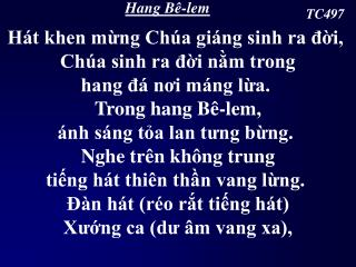 Hang Bê-lem