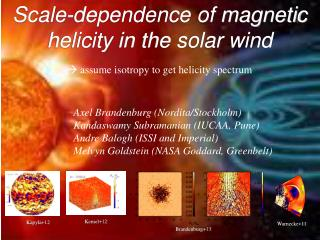Scale-dependence of magnetic  helicity  in the solar wind