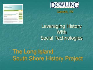 Leveraging History  With  Social Technologies