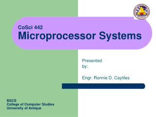 CoSci 442 Microprocessor Systems