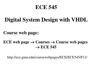 Course web page: