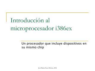 Introducción al microprocesador i386ex