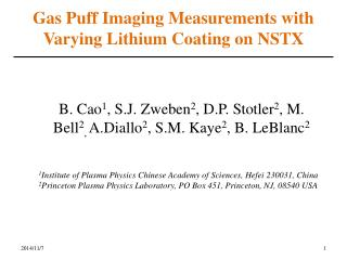 Gas Puff Imaging Measurements with Varying Lithium Coating on NSTX