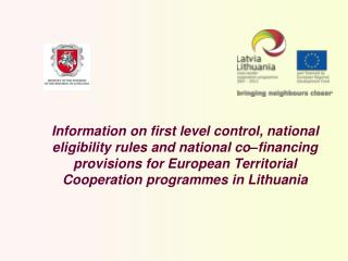 Legal acts in Lithuania for European Territorial Cooperation programmes