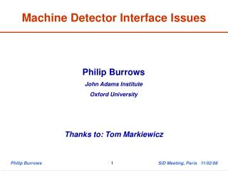 Machine Detector Interface Issues