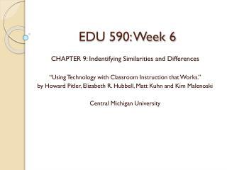 EDU 590: Week 6