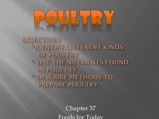 Chapter 37 Foods for Today