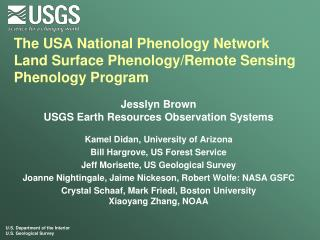 The USA National Phenology Network Land Surface Phenology