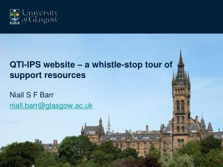QTI-IPS website – a whistle-stop tour of support resources