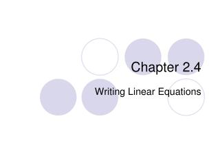 Chapter 2.4