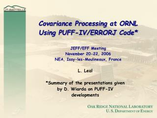 L. Leal *Summary of the presentations given by D. Wiarda on PUFF-IV developments