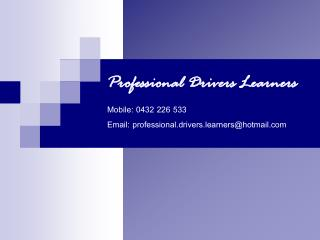 Professional Drivers Learners - FINAL business card 260911