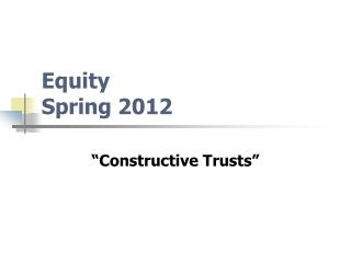 Equity  Spring 2012