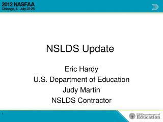 NSLDS Update