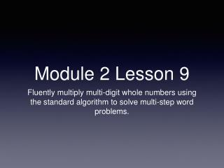 Module 2 Lesson 9