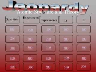 Atomic Structure and Theory