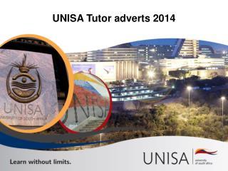 UNISA Tutor adverts 2014