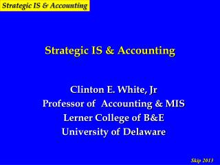 Strategic IS & Accounting