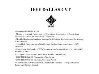 IEEE DALLAS CVT