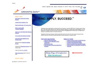 Home Page of Grants.Gov --    grants/
