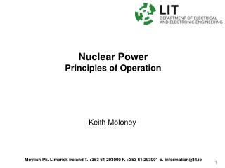 Nuclear Power Principles of Operation
