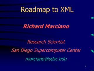 Roadmap to XML