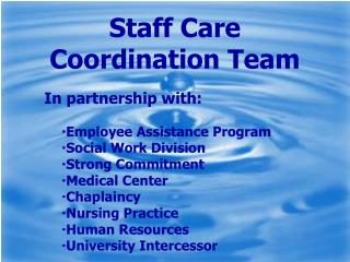 Staff Care Coordination Team