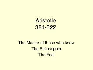 Aristotle 384-322