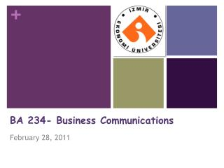 BA 234- Business Communications