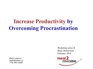 Increase Productivity  by Overcoming Procrastination