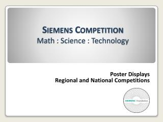 Siemens Competition Math : Science : Technology