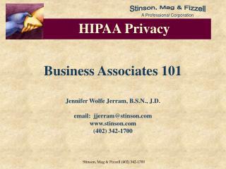 Business Associates 101