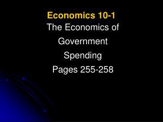 Economics 10-1