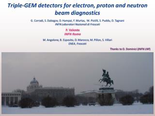Triple-GEM detectors for electron, proton and neutron beam diagnostics