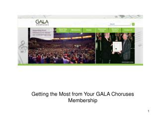 Getting the Most from Your GALA Choruses Membership