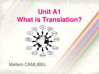 Unit A1 What is Translation?